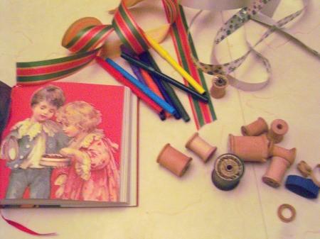 Vintage Looking Thread Spool Tree or Gift Ornaments - supplies