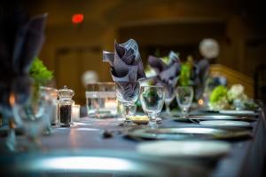 Table set for Wedding Rehearsal Dinner