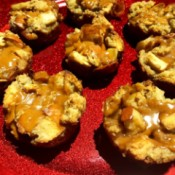 Bread Pudding Cups on plate