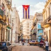 A street in Havana, Cuba.