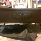 Lane Cedar Chest Value - beautiful dark finish chest with turned legs