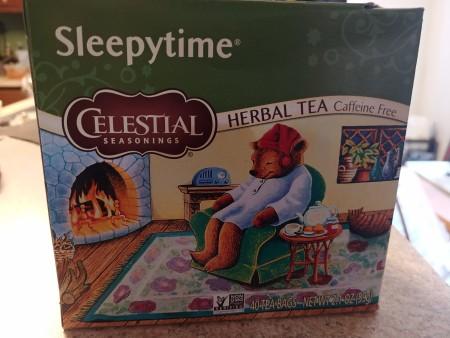 A box of Sleepytime tea.