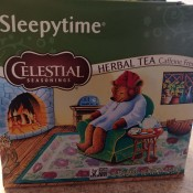 A box of Sleepytime tea.