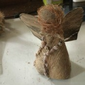Coconut Fiber Christmas Angels - finished angel