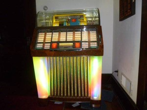 Value of a 1953 Seeburg Jukebox - jukebox lit up