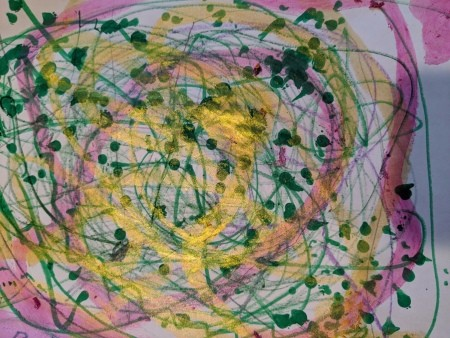 Paper Plate Framed Christmas Decoration - child's artwork