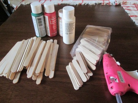 Popsicle Stick Sled - supplies