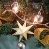 3D Paper Star Ornament - star hanging on the tree