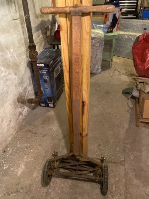 Age of a Great States Reel Mower - wooden handled reel mower