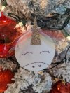 Rainbow Unicorn Ornament - ornament hanging on the tree