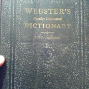 Value of  a 1937 Webster Dictionary  - front cover