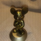 Value of a Small Mickey Mouse Bronze Statue - as seen from the front