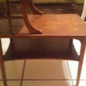 Identifying a Mersman Table - side view of a two tier table