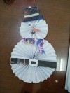 Wiggly Paper Snowman - finished snowman