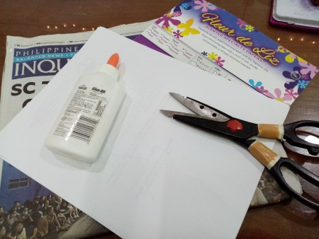 Wiggly Paper Snowman - supplies