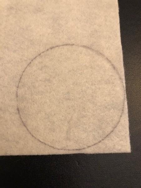 Personalized Felt Ornaments - circle on felt