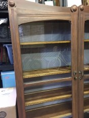 Identifying a Shelving Unit - old glass fronted shelving unit