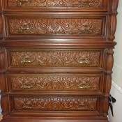 Value of a Bassett Bedroom Set - dresser with carved appearance drawer fronts