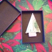Cash Trees As Gifts - money folded as a tree in a gift box