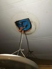 Repairing a Light Fixture - ceiling fixture
