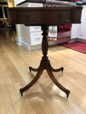 Value of a Brandt Table - square, leather topped, pedestal table