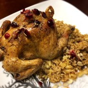 Cranberry Apple Cornish Hen on plate