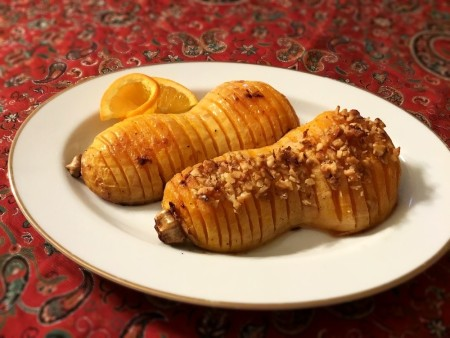 Honey Citrus Butternut Squash on plate