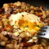 fork in Steak and Egg Hash