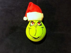 Light Bulb Grinch Ornament - Grinch light bulb ornament