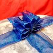 Beautiful Ribbon Gift Topper - ready to wrap a gift