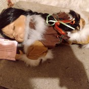 Value of a Goldenvale Pocahontas Doll - doll lying down