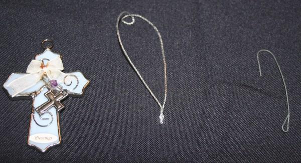 Pendant Ornaments -  pendant, silver cord, ornament hanger