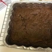 baked Brownie batter