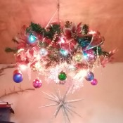 Wreath Chandelier - pretty Christmas chandelier