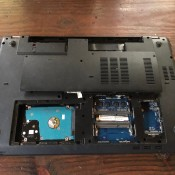 Replacing Your Laptop Hard Drive - locate the hard drive, here the panel has been removed
