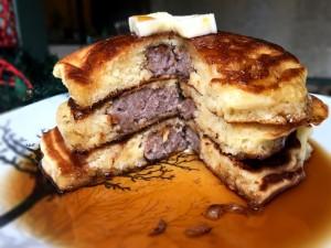 stack of Sausage-Stuffed Pancakes