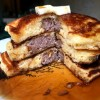 stack of Sausage-Stuffed Pancakes