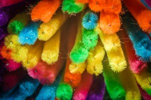 bunch of pipe cleaners