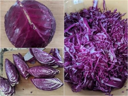 Cabbage cut & shredded