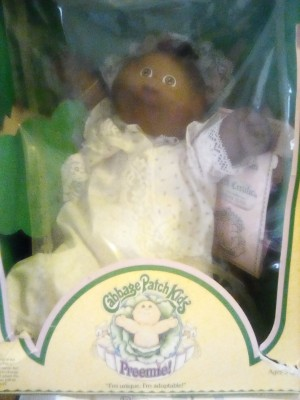 Value of Cabbage Patch Kid Dolls - preemie doll in the box