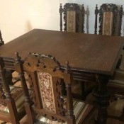 Finding a Furniture Appraiser - dark wood dining table and 6 chairs