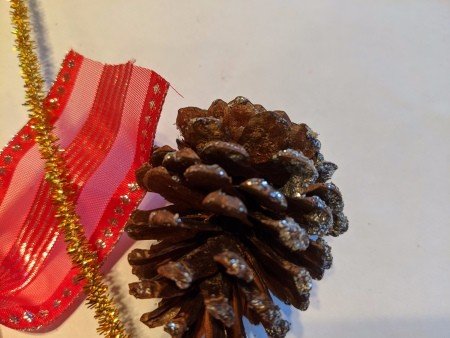 Oversized Bow Pinecone Ornament for Door - supplies