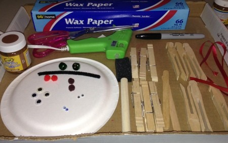 Clothespin Reindeer - supplies