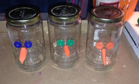 Pasta Jar Snowman Luminaries -