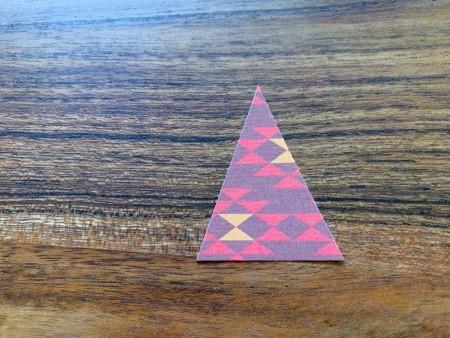 Hershey Kiss-mas Trees - paper triangle