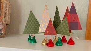 Hershey Kiss-mas Trees - on the mantle