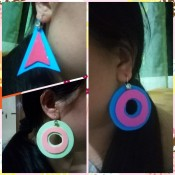 Colorful Retro Inspired Foam Earrings - all three styles