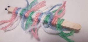 Wood and Yarn Centipede - cute centipede
