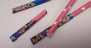Paper and Drinking Straw Rockets - several ready and in process rockets
