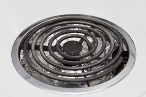 Burner with clean drip pans.